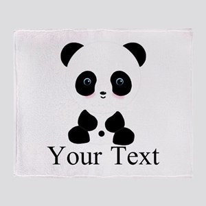 Personalizable Panda Bear Throw Blanket