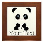 Personalizable Panda Bear Framed Tile
