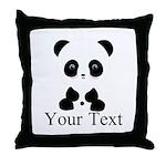 Personalizable Panda Bear Throw Pillow