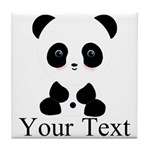 Personalizable Panda Bear Tile Coaster