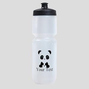 Personalizable Panda Bear Sports Bottle