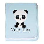 Personalizable Panda Bear baby blanket