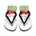 Personalizable Red Tulips Flip Flops
