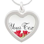 Personalizable Red Tulips Necklaces