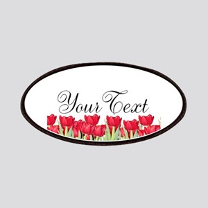 Personalizable Red Tulips Patch