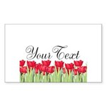 Personalizable Red Tulips Sticker