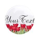 Personalizable Red Tulips Button
