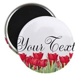 Personalizable Red Tulips Magnets
