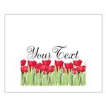 Personalizable Red Tulips Posters