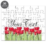 Personalizable Red Tulips Puzzle