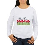 Personalizable Red Tulips Long Sleeve T-Shirt