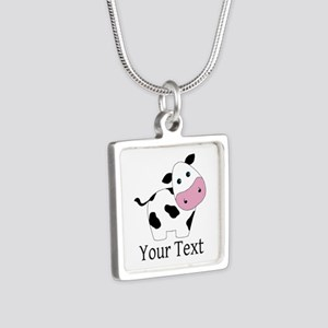 Personalizable Black and White Cow Necklaces