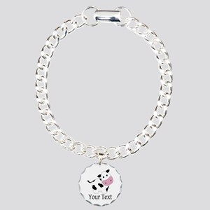 Personalizable Black and White Cow Bracelet