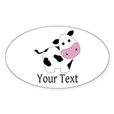 Personalizable Black and White Cow Sticker