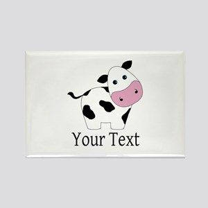 Personalizable Black and White Cow Magnets