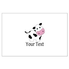 Personalizable Black and White Cow Posters