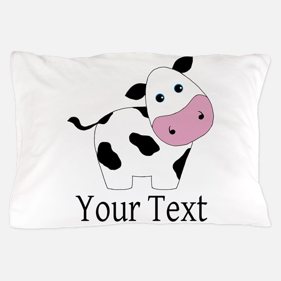 Personalizable Black and White Cow Pillow Case