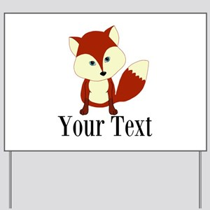 Personalizable Red Fox Yard Sign