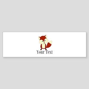 Personalizable Red Fox Bumper Sticker