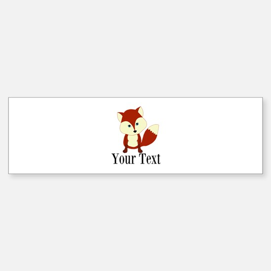 Personalizable Red Fox Bumper Car Car Sticker