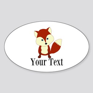 Personalizable Red Fox Sticker
