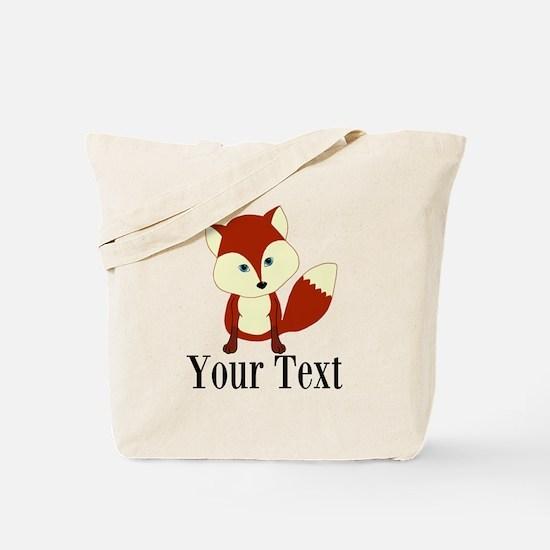 Personalizable Red Fox Tote Bag