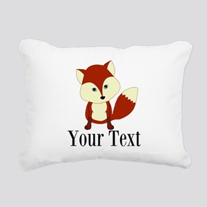 Personalizable Red Fox Rectangular Canvas Pillow