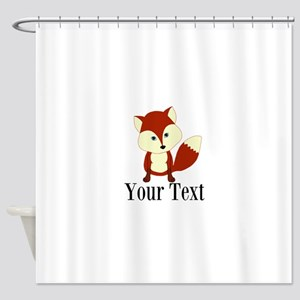 Personalizable Red Fox Shower Curtain