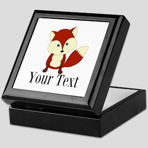 Personalizable Red Fox Keepsake Box
