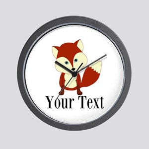 Personalizable Red Fox Wall Clock