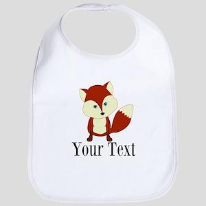 Personalizable Red Fox Baby Bib