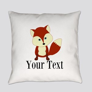 Personalizable Red Fox Everyday Pillow