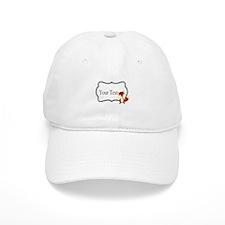 Personalizable Red Fox on Black Baseball Cap