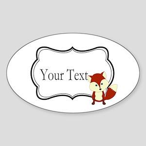 Personalizable Red Fox on Black Sticker