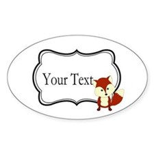 Personalizable Red Fox on Black Sticker