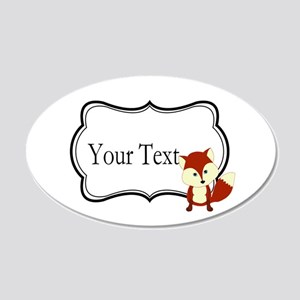 Personalizable Red Fox on Black Wall Decal