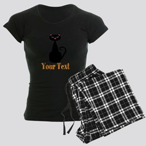 Personalizable Orange Black Cat Pajamas