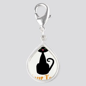 Personalizable Orange Black Cat Charms