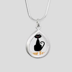 Personalizable Orange Black Cat Necklaces