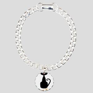 Personalizable Orange Black Cat Bracelet
