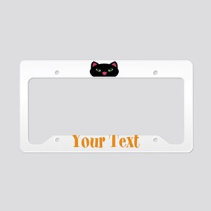 Personalizable Orange Black Cat License Plate Hold