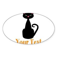 Personalizable Orange Black Cat Sticker