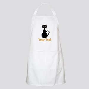 Personalizable Orange Black Cat Apron