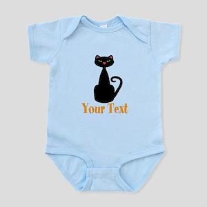 Personalizable Orange Black Cat Body Suit
