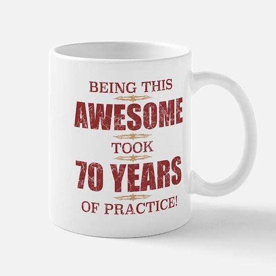 Awesome 70th Birthday Mugs