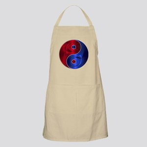 Metallic Red & Blue Yin & Yang Apron