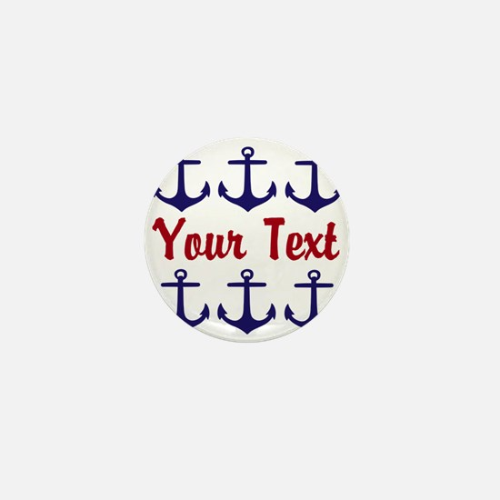 Personalizable Red and Blue Anchors Mini Button