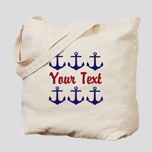 Personalizable Red and Blue Anchors Tote Bag