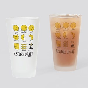 History Of Art By Smiley - Drinking Glass