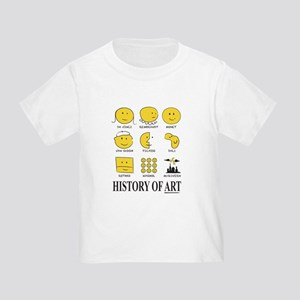 History Of Art By Smiley - Toddler T-Shirt